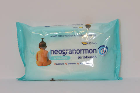Neogranormon sensitive törlőkendő 55x